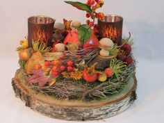 Thanksgiving Decorations, Christmas Decorations, Table Decorations, Art Floral, Table Settings, Decorating Ideas, Candles, Rustic, Etsy