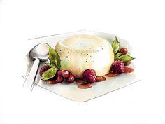 Watercolor dessert | Malikova Darya