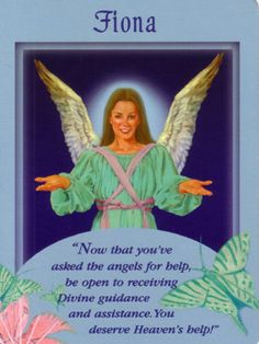 Fiona Angel Card Extended Description - Messages from Your Angels Oracle Cards by Doreen Virtue