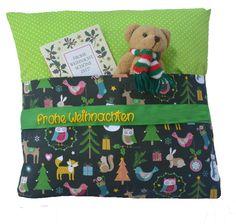 Weihnachtskissen mit Geheimfach 34x34 cm groß, schneller Versand, Namenskissen, Kissen mit Weihnachten Motiv personalisiert, Weihnachtsgeschenke (gelb auf grünem Band): Amazon.com: Spielzeug