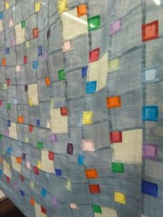 Linen pojagi displayed at Quilt Expo Beaujolais 2012, by Silvia Bos of Switzerland