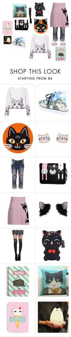 """""""welcom to kitty city!!"""" by viasparkles on Polyvore featuring interior, interiors, interior design, home, home decor, interior decorating, Accessorize, MSGM, Miss Selfridge and Samsung"""