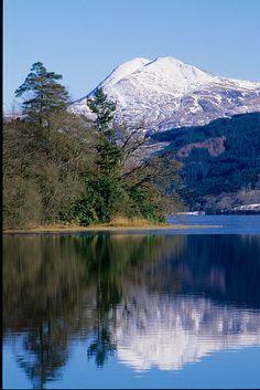 Ben Lomond from Loch Ard, Trossachs National Park, Scotland by David May, via Flickr