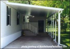Innovative Mobile Home Improvement Ideas That You Can Do! mobile home parts attached carportmobile home parts attached carport Mobile Home Redo, Mobile Home Parts, Mobile Home Repair, Mobile Home Makeovers, Mobile Home Living, Mobile Home Decorating, Porch On Mobile Home, Mobile Home Addition, Mobile Home Doors