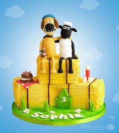 Shaun the Sheep and Bitzer Cake