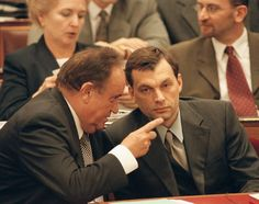 Torgyán (left) chatting with a much younger Mr. Orbán (right), about 15 years ago. Days Are Numbered, Public Television, Central And Eastern Europe, National Theatre, Right Wing, The Republic, Prime Minister, Victorious, Presidents