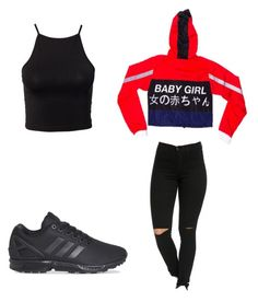 """""""Untitled #53"""" by amysonmaijah on Polyvore featuring adidas and NLY Trend"""