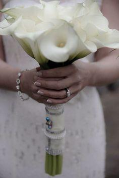 Art Deco wedding calla Lillie's bouquet