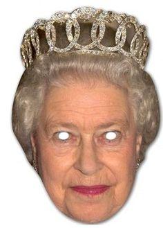 Latex Queen Mask English Royal Family Fancy Dress Elizabeth Monarchy England