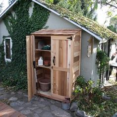 attatch Prefab Wood Small Garden Shed 2 x 4 to the larger garden studio