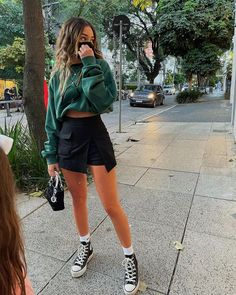 Outfits Damen, Komplette Outfits, Teen Fashion Outfits, Retro Outfits, Cute Casual Outfits, Stylish Outfits, Cool Girl Outfits, School Outfits, Everyday Outfits