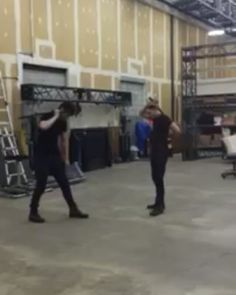 """VIDEO: @matthewdaddario and @domsherwood practicing with swords for #Shadowhunters. (via @cassieclare1) #2  #tmi #themortalinstruments #abcfamily…"""