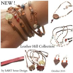 Just released: Leather Hill jewelry collection by hART Sense Design. Rustic chic for boho babes, chic cowgirls, and lovers of all things Western. See all available designs at www.hartsensedesign.com or www.amazon.com/handmade/hARTSD - Sign up to receive e-mails for our future new design releases at www.hartsd.com