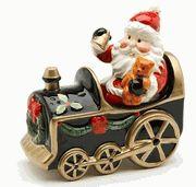 Santa and Train Salt and Pepper Shaker Set $14