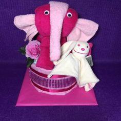 luiertaart meisjes met olifant
