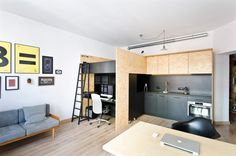 A Modest, Modern Apartment for Living and Working - Design Milk