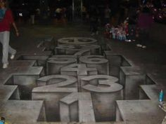 This huge collection of wall art illusions will twist your brain into a pretzel. It's an inspiring kind of street art that will give you a creativity boost. 3d Street Art, Street Artists, Sidewalk Chalk Art, Illusion Art, Optical Illusions, Graffiti Art, Urban Art, Cool Pictures, Funny Pictures