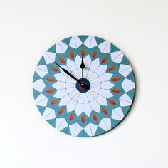 Wall Clock  Etsy Art Modern Clock Housewares Clock by Shannybeebo