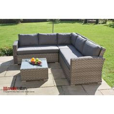 Columbia Rattan garden furniture Small Corner Sofa Set | eBay