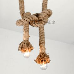 Personality hemp rope pendant light decoration lamp nostalgic vintage pendant light-1pcs cord $60.00