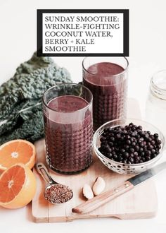 Wrinkle-Fighting Berry Kale Smoothie #Food #Drink #Musely #Tip