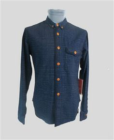 DOT DISCHARGE BUTTON DOWN SHIRT Online or in-store - The Allotment Store