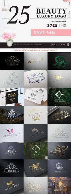 Beauty and Luxury Logo Bundle - 470445