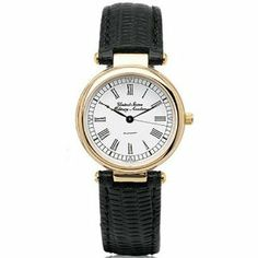 """West Point Women's Classic with Leather Strap by West. $239.00. Water-resistant to 30 meters.. Three-piece case construction with jewelry-grade gold finish.. Scratch-resistant sapphire crystal.. Quartz movement crafted in Switzerland with 15 jewels.. Three-year warranty.. West Point women's gold watch featuring """"United States Military Academy"""" in subtle script on the round dial."""