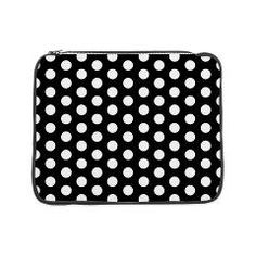 Channel Coco with this cute 'n classy black and white polka dot laptop case sleeve.