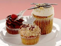 Get Chocolate Vodka Raspberry Rock Star Cupcake Recipe from Cooking Channel