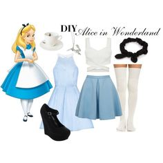 A fashion look from October 2015 featuring Closet skirts, Bonnibel pumps and By Emily necklaces. Browse and shop related looks. Disney Bound Outfits Casual, Disney Themed Outfits, Movie Inspired Outfits, Disney Inspired Fashion, Disney Character Outfits, Disney Princess Costumes, Disney Costumes, Alice In Wonderland Outfit, Wonderland Costumes