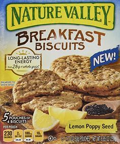 2 Pack Nature Valley Breakfast Biscuits Lemon Poppy Seed 5 1770z Pouches -- Visit the image link more details.
