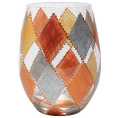 Lolita Stemless Wine Glass, Harlequin by Santa Barbara Design Studio Kitchen. $16.99. Full 20-ounce glass is an artistic addition to your collection of lolita or will stand out in your elegant barware. Carefully hand painted; the vibrant colors and embellishments are applied with meticulous detail. Officially licensed lolita stemless wine glass; perfect for a large glass of wine with an easy to hold base and no risk of breaking a fragile stem. Glasses ship in lol...