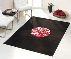 Teppich schwarz rot  Mélange Pattern 2 Kilim Woll-Teppich - schwarz-weiß- rot/170x240cm ...