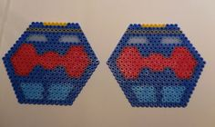 2 coasters  Dr Who, Eleventh Doctor made with Hama Beads door TCAshop op Etsy https://www.etsy.com/nl/listing/228188176/2-coasters-dr-who-eleventh-doctor-made