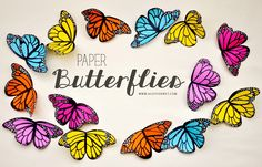 DIY Paper Butterflies by Agus Yornet -- the most realistic that I've seen yet!