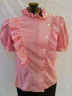 blouse - I had one very similar to this one :) i had a white Lady Di blouse that I wore as a waitress. My Childhood Memories, Sweet Memories, School Memories, Childhood Toys, Red Blouses, Blouses For Women, Nostalgia, 80s Fashion, Red And White