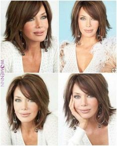 Oval Face Hairstyles, Long Bob Hairstyles, Hairstyles 2018, Trendy Hairstyles, Medium Layered Hairstyles, Hairstyles For Medium Length Hair With Layers, Hairstyles For Over 50, Mid Length Hairstyles, Medium Length Bobs