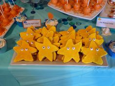 Under the Sea Themed Baby Shower: Starfish Sugar Cookies