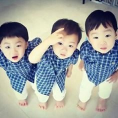 Daehan, Minguk, Manse ♡ The Return of Superman Cute Kids, Cute Babies, Baby Kids, Song Il Gook, Superman Baby, Song Daehan, Song Triplets, Asian Babies, Precious Children