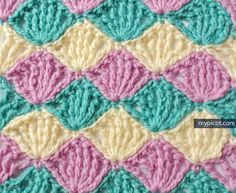 MyPicot | Free crochet patterns. how beautiful are these colors together. I will try MyPicot free pattern and hopefully mine will look just as lovely. Thanks MyPicot!