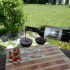 June 14, 2015 - Colchester Ridge Estate Winery 2010 Meritage with Greek Salad bites. Wine not? Greet friends on the patio with a glass of Crew Meritage before your dinner reservation. Great alone or with a quick appetizer! - See more at: http://www.essexcountywineries.ca/wines/2015/20150614.htm#sthash.YDkmcp0C.dpuf