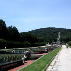 cascades, fountains, falls, at Palace of Caserta