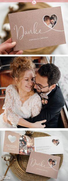 Mit individuell gestalteten Dankeskarte im Kraftpapier Look geht das ganz einfach! Bridesmaid Speeches, Bridesmaid Duties, Blue Bridesmaids, Wedding Tags, Rustic Wedding, Wedding Gifts, Diy Pinterest, Unique Weddings, Your Cards