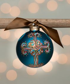 Another great find on #zulily! Blue Curly Personalized Ornament #zulilyfinds