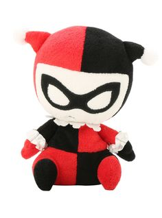 Even your favorite DC superheroes have bad days! This Harley Quinn plush figure is weighted on the bottom to retain a slouchy posture and adorable frustration.