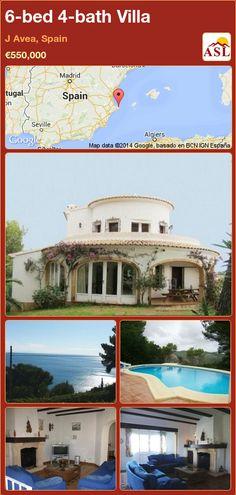6-bed 4-bath Villa in J Avea, Spain ►€550,000 #PropertyForSaleInSpain
