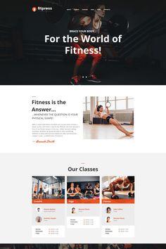 Gym Moto CMS HTML Template #64193