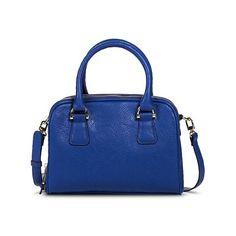 Merona Women's Satchel Handbag - Blue ($34) ❤ liked on Polyvore featuring  bags,