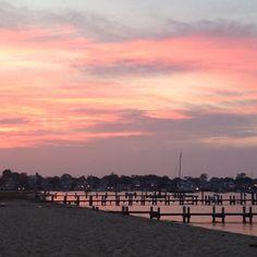 Sunset. Edgartown Harbor.   Photo by terrellsandefur • Instagram